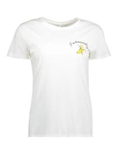 Jacqueline de Yong T-shirt JDYFRUITY S/S TOP JRS EXP 15159789 Cloud Dancer/BANANA