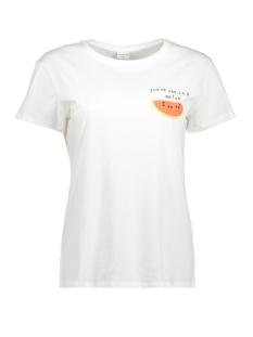 Jacqueline de Yong T-shirt JDYFRUITY S/S TOP JRS EXP 15159789 Cloud Dancer/MELON