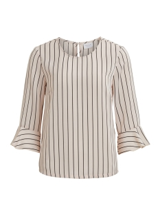 Vila T-shirt VIRIBA 3/4 SLEEVE TOP 14045601 Peach Blush/BLACK STRI