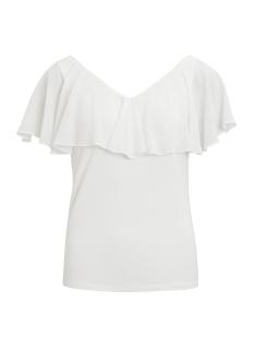 Vila T-shirt VITULLE S/L CHIFFON TOP 14046789 Cloud Dancer