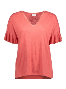 Vila T-shirt VICLORIA TOP 14045791 Spiced Coral