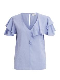 Vila T-shirt VIMULINA S/S TOP 14046054 Medium Blue Den / Medium Blue
