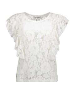 Noisy may T-shirt NMMIA S/L FRILL TOP 3 27002537 Bright White