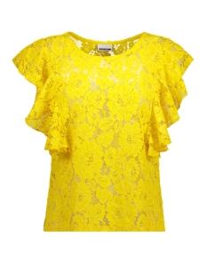 Noisy may T-shirt NMMIA S/L FRILL TOP 3 27002537 Lemon Chrome