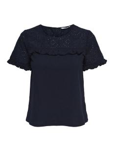 Only T-shirt onlSABAH S/S TOP WVN 15155953 Night Sky