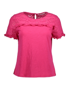 Only T-shirt onlSABAH S/S TOP WVN 15155953 Pink Peacock