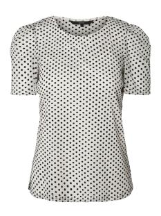 Vero Moda T-shirt VMSOFIE 2/4 TOP 10198000 Pristine / Black Dots
