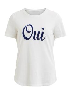 Vila T-shirt VIDONNA S/S T-SHIRT 14048254 Cloud Dancer