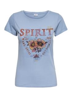 Jacqueline de Yong T-shirt JDYCITY S/S PRINT TOP 04 JRS 15151972 Dusty Blue/SPIRIT