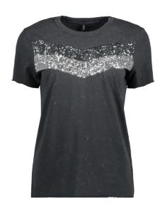 Only T-shirt onlJAMILA S/S SEQUINS TOP JRS 15157871 Phantom/CHEST