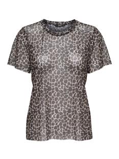 Only T-shirt onlMAJA LEO MESH S/S TOP JRS 15168784 Black/LEO