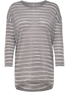 Only T-shirt onlDIANNA ELCOS 3/4 TOP JRS 15161231 Light Grey Melange