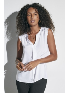 Only Top onlKIMMI S/L TOP WVN NOOS 15157656 White