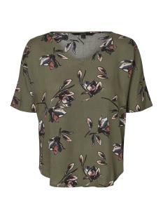 Vero Moda T-shirt VMSIMPLY EASY VISC SS TOP 10194033 Kalamata/KITTASSI-