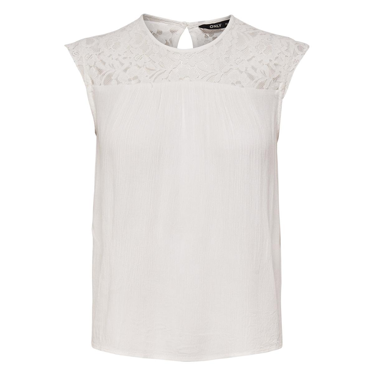 onlkarmen s/l top wvn noos 15157657 only t-shirt cloud dancer