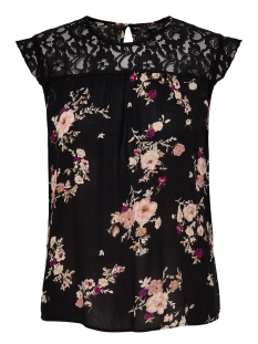Only Top onlKARMEN S/L TOP AOP WVN NOOS 15160173 Black/FLOWER