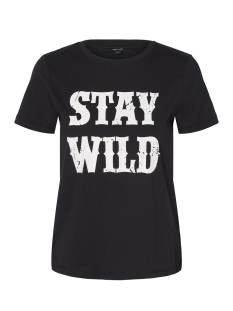 Vero Moda T-shirt VMWILD SS TOP BOX GA 10198897 Black Beauty