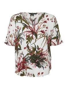 Vero Moda T-shirt VMSIMPLY EASY VISC SS TOP 10194033 Snow White/ANASTACIA