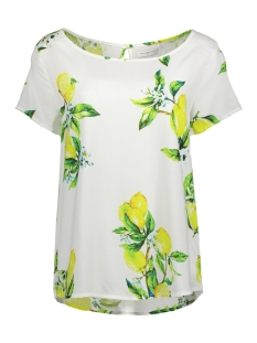 Jacqueline de Yong T-shirt JDYLIMONE S/S TOP WVN EXP 15160637 Cloud Dancer/LEMON