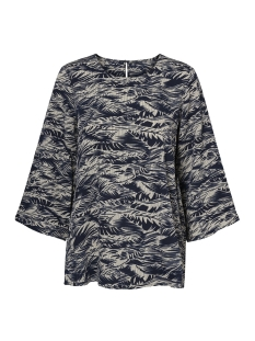 Vero Moda Blouse VMCITY 3/4 TOP GA 10198880 Birch/Palm Navy