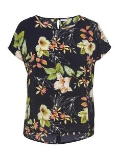 Jacqueline de Yong T-shirt JDYTRICK S/S TOP WVN 15156016 Night Sky/FLOWER