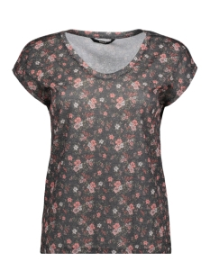 Only T-shirt onlBINKA SILVERY S/S TOP BOX JRS 15165943 Black/FLOWER