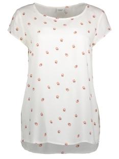 Jacqueline de Yong T-shirt JDYMARLEY S/S TOP WVN RPT1 15166084 Cloud Dancer/LADYBUG