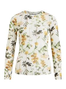 Object T-shirt OBJFLORESSA L/S MARIANN TOP A SP 23027910 Gardenia/FLORAL AOP