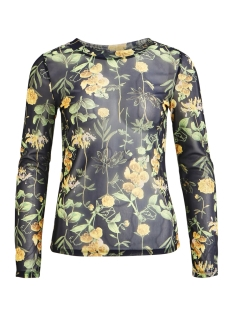 Object T-shirt OBJFLORESSA L/S MARIANN TOP A SP 23027910 Sky Captain/FLORAL AOP