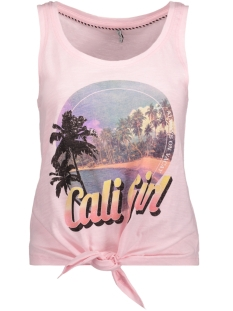 Only Top onlBONE S/L CALI/VACAY KNOT TOP BOX 15157916 Orchid Pink/CALI 1