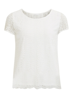 Vila T-shirt VINIKKA LACE S/S T-SHIRT 14046749 Cloud Dancer