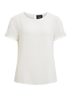 Object T-shirt OBJHASTINGS S/S TOP I. 97 23026694 White