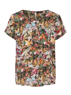 Only T-shirt onlMASJA FIRST S/S TOP WVN 15163137 Black/MULTI FLOW