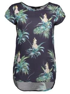 Vero Moda T-shirt VMBOCA SS BLOUSE MULTI PRINTED 10132802 Navy Blazer/COCKATOO