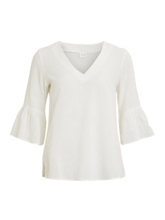 Vila T-shirt VILAZA 3/4 TOP 14046924 Snow White