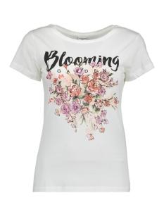 Jacqueline de Yong T-shirt JDYCITY S/S PRINT TOP  05 JRS 15152005 Cloud Dancer/BLOOMING
