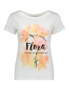 Jacqueline de Yong T-shirt JDYCITY S/S PRINT TOP  05 JRS 15152005 Cloud Dancer/FLORA