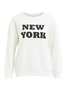 Vila Sweater VISNABB L/S SWEAT 14049535 Cloud Dancer/New York
