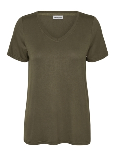 Noisy may T-shirt NMHARRY V-NECK  S/S TOP COL. 27001074 Ivy Green