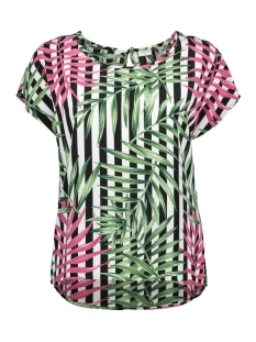 Jacqueline de Yong T-shirt JDYCARLA S/S TOP WVN 15160048 Cloud Dancer/Black Stripe
