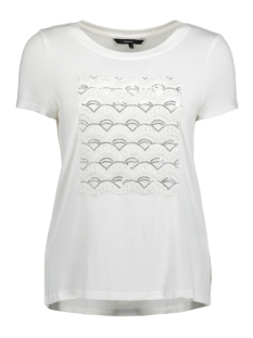 Vero Moda T-shirt VMFALLY S/S TOP D2-4 10198221 Snow White/SILVER SEQ