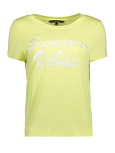 Vero Moda T-shirt VMFALLY S/S TOP D2-4 10198221 Luminary Green/SUMMER VIBE