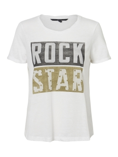 Vero Moda T-shirt VMFILLA S/S TOP D2-4 10198639 Snow White/ROCK STAR