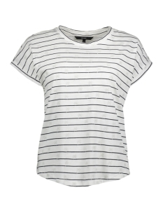Vero Moda T-shirt VMHELMER SS TOP GA 10198986 Snow White/PALM SILVER