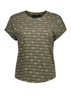 Vero Moda T-shirt VMHELMER SS TOP GA 10198986 Kalamata/PALM GOLD