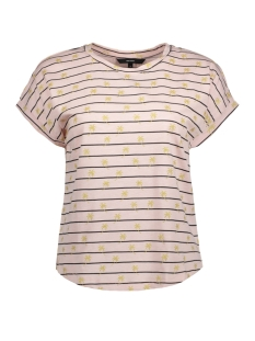 Vero Moda T-shirt VMHELMER SS TOP GA 10198986 Sepia Rose/PALM GOLD