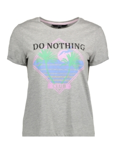 Vero Moda T-shirt VMPOLLY SS TOP BOX GA 10199184 Light Grey Melange/Do Nothing