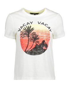 Vero Moda T-shirt VMPOLLY SS TOP BOX GA 10199184 Snow White/VACAY