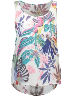 Only Top onlMALIBU S/L TOP WVN 15163251 Bright White/ TROPICAL