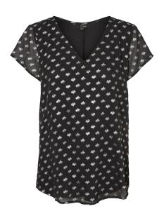 Vero Moda T-shirt VMFOILS S/S BOCA TOP KA 10204753 Black